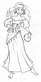 Disney Esmerelda Sketch By Kimberly Castellodeviantartcom On