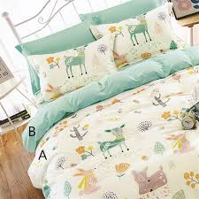 2019 160cm 50cm rabbit deer infant baby cotton fabric bed sheets duvet cover bed linens pillow kids fabric for sewing qulit tissues from xiamen2016