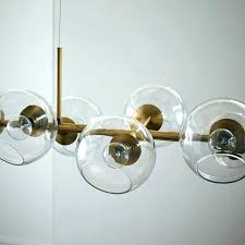 west elm glass orb chandelier chic lighting staggered uk