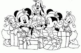 Small Picture Disney Characters Christmas Coloring Pages Free Background
