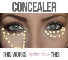 use concealer to hide the bags under eyes