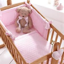 clair de lune marshmallow 2 piece crib cradle quilt per bedding set pink linens limited