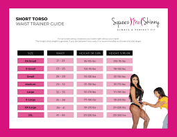Colombian Waist Trainer Size Chart Size Chart Squeezmeskinny