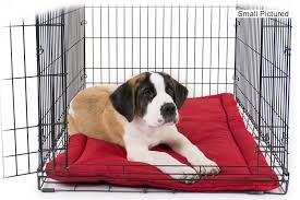 crate pad nesting tuff dog bed red img