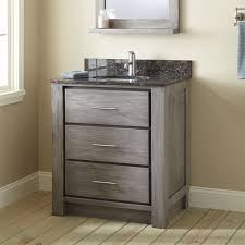 Distressed Bathroom Cabinet Distressed Gray Stained Wooden Double Bathroom Vanity With Cabinet