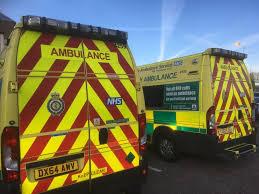 a stock photo of ambulances