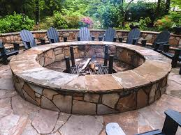 image of large fire pit outdoor stones