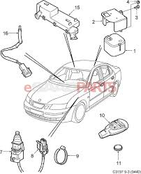 12783781 saab remote key transmitter 9 3 03 11 443 92mhz for us diagram image 10