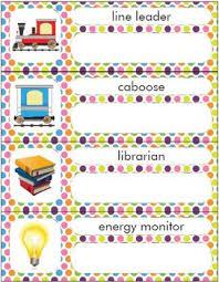 Classroom Job Chart Back To School Craft Activity