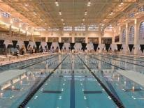 Mansion with indoor pool with diving board Bird Box Wilson Aquatic Center White House Wilson Aquatic Center Dpr