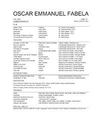 Acting Resume Template Download 50 Free Acting Resume Templates Word Google Docs