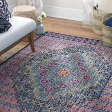 oriental blue orange area rug and living room grey bungalow rose distressed handwoven