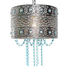 river of goods poetic wander by tracy porter 1 light silver and blue chandelier with