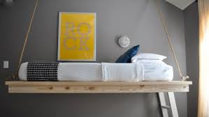 A hanging daybed big enough to fit a standard twin mattress. It has extra  room on all sides to hold drinks, books, phones and maybe even a snack.