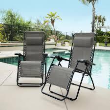 Caravan grey metal infinity zero gravity patio chair 2 pack 80009000122 the home depot