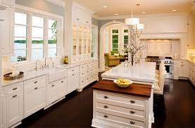 White Kitchen Granite Countertops Antique White Kitchen Cabinets With Granite Countertops
