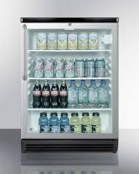 summit glass door built in under counter beverage merchandiser 5 5 cu ft