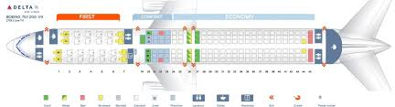 seat map ninth cabin version of the boeing 757 200 75x live tv delta air lines