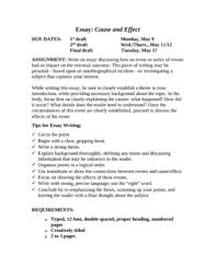 cause and effect essay tips cause and effect essay writing tips and ideas