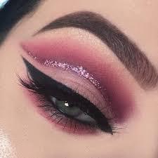 description cranberry glitter cut crease makeup tutorial