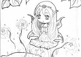 Coloring Pages Anime Girl Inside Cute Csad Within Chibi Manga
