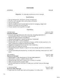 Example Bartender Resume Bartender Resume Templates New Example