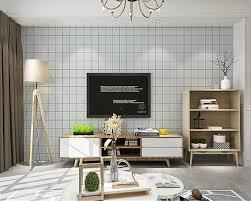 Beibehang Nordic Modern White Plaid Papel De Parede Wall Paper