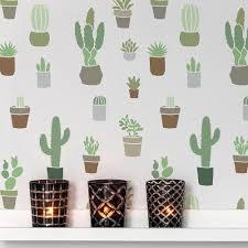 Cactuses Wallpaper Stencil Beautiful Cactus Stencils For Diy Nursery