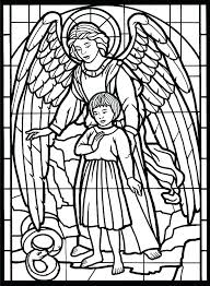 Stain Glass Coloring Pages Ispeakanglaisclub