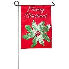 christmas garden flags. Merry Christmas Holly Embellished Applique Garden Flag Flags