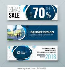 Business Banner Design Banner Template Design Presentation Concept Blue Corporate