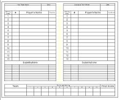 Little League Roster Template Soccer Rotation Template