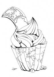 Small Picture cute cupcakes cuisine Archives Coloring pages for adults