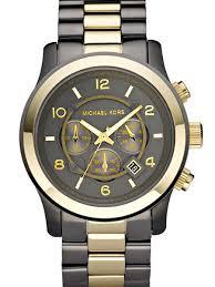 michael kors men s watch mk8160 black dial and two tone bracelet
