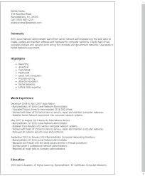 Modern Network Administrator Resume Entry Level Network Engineer Cover Letter Resume Sample Networking