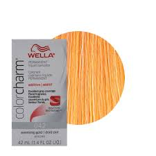 wella color charm permament liquid hair color additive 42ml warming gold 042 381519047664 ebay