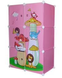 frosted plastic cabinets with magnetic doors 6 cube pink