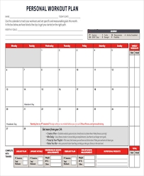 Workout Schedule Chart Workout Chart Templates 8 Free Word Excel Pdf Documents