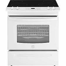 white electric range. Slide-In Electric Range W/ Black Ceramic White Electric Range E