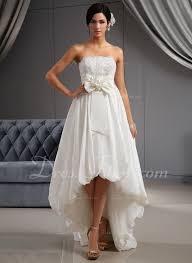 a line princess strapless asymmetrical taffeta wedding dress with
