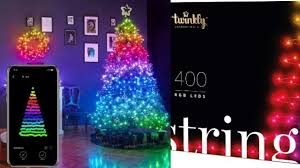 App Controlled Christmas Tree Lights Twinkly App Controlled Christmas Light Strings