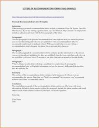 Refernce Letter Template Recommendation Letter Sample For Graduate School From Employer Valid