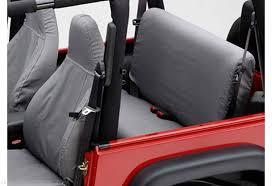 polycotton seatsaver seat covers for 97 02 jeep tj rear seat