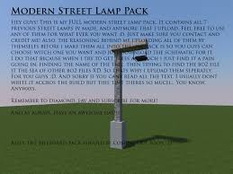 Modern Street Lamp Pack Minecraft Project