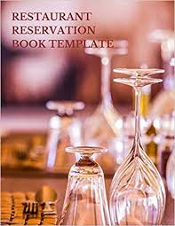 Table Reservation Template Restaurant Reservation Book Template Fill In The Date 8 5