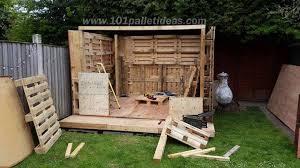 pallet building plans. building the side walls of pallet cabin plans s