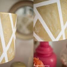 Diy Lampshade Diy Lampshades Gold Geometric Shade Just Destiny