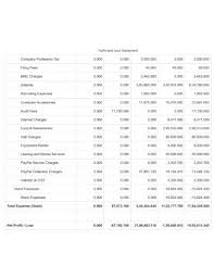 Restaurant Financial Statements Templates 7 Restaurant Profit And Loss Statement Templates In Pdf