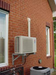 mini split system compressor installed at the ccht experimental house centre pictured above ductless t29