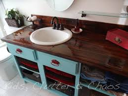 diy wood countertop bathroom 15 amazing diy kitchen ideas counter top